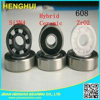 hybrid skate ceramic ball bearing small 608 nylon cage ball bearing