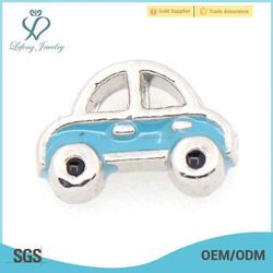 Blue Car floating charms for Living Memory Glass Floating Lockets, vehicle charm