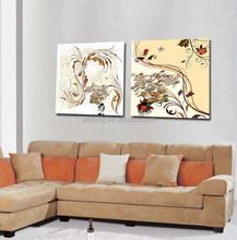 Nature morte art arbres et de fleurs peintures murales / peinture à l'huile mur photos de fleurs et arbres