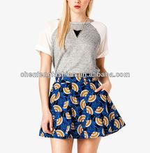 CHEFON Women Chiffon Raglan Sleeve French Terry Shirt CB0570
