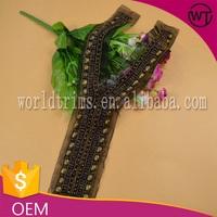 New design handmade pearl acrylic neckline for kurtis WTA316