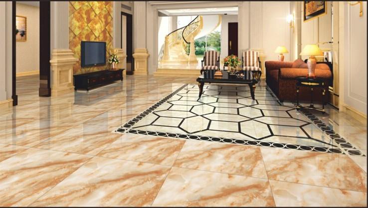 Super 24x24 nero lucido tile porcellanato, marmo artificiale ...