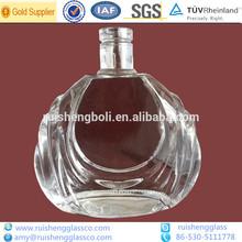 Elegante clara 700ml brandy/coñac decorativos de vidrio de la botella