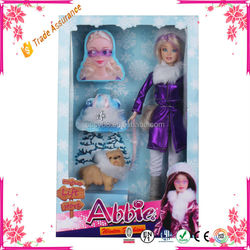 Plastic Baby Doll With Fancy Removing Clothes For Girl