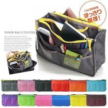 Multifunction polyester+nylon+cotton bag organizer storage bag 12 different colors for travel organization