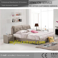 Top grade Crazy Selling white soft pu bed frame