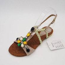 ornaments with stones branded ladies sandals