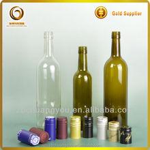 750ml antique green liquor glass bottle/75cl liquor glass bottle