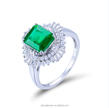 NEW Fashion 18k White Gold Emerald Engagement Diamond Rings JWRWE15184