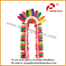 Colorful Headdress Of Indian Headdress Materials Feathers