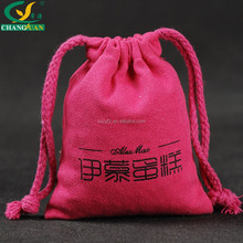 Hot new products for 2015 Pink Portable Cloth Bag with drawstring Handle