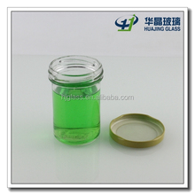 120ml clear empty cylinder glass jar with airtight metal lid wholesale