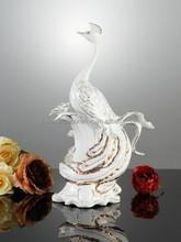modem inside arts and craft Ceramic Peacock garden ornament