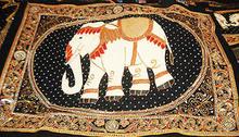 Fabric Elephant Curtain Design 001