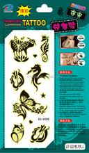 Luminous tempory tattoo ,temporary black tattoo men,tattoo stickers glow in dark