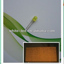 5mm 3mm oval amber yellow orange diffused led diode
