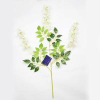 70 cm elegant short artificial white silk wisteria flower for wedding decoration centerpieces