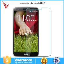 Transparent screen protector for LG cell phone tempered glass screen for LG G2