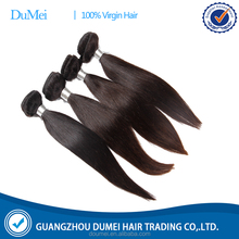 DUMEI 100% virgin straight factory price Indian human hair extension for 2016