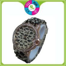 New Design Digital Geneva Silicone Quartz Watches with Diamonds Wholesales