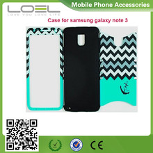 Heavy Duty Hybrid Protective Case Soft Teal Silicone Cover Hard Design Shell Case for Samsung Galaxy note 3