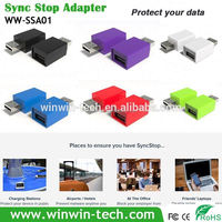 contemporary blue power fast charger Syncstop fast charging adaptor