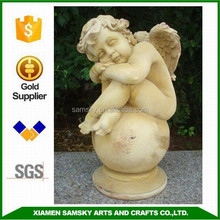 home gifts and crafts resin sleeping cherub angel statue