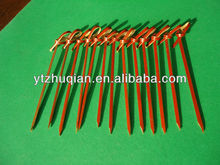 Stamp-printed bamboo skewer with flower knot sticks wholesale