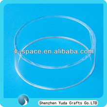 """8.3"""" Clear Round Acrylic Basketball Display Stand Ring"""