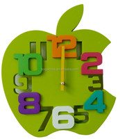 Promotional 3D Frameless Wall Clock with Apple Shape