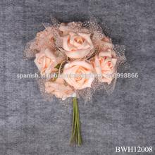 boda artificial ramo de flores