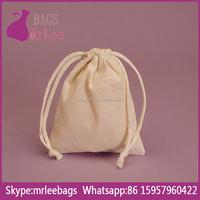 Custom natural cheap drawstring cotton picking bags on stock