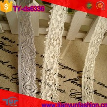 woderful design nylon with spandex decorative white dresses elastic lace trim