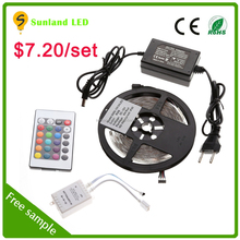 12v Outdoor 5050 Waterproof RGB Light continuous length flexible led light strip