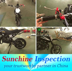 Dirt Bike, Pit Bike Quality Inspection Services / Production Quality Control / Product Inspection and Tests