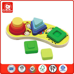Eduucational toys for preschool children coloful montessori wood toys OEM accept