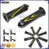 "BJ-HB-049 New arrival Universal Yellow 7/8"" Aluminum Bar Ends Soft Rubber Motorcycle Handle Grip Handlebar Grip"