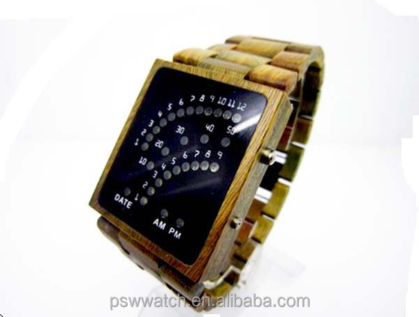 fashion led digital wood watch oem wood watch wholesale