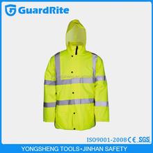 GuardRite Brand Yellow Safety Reflective Jacket,Police Reflective Jacket