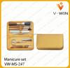 Fashion Leather Case Nail Tech Manicure Travel Box Set In Bag Case