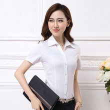 WT264 Short Sleeve Solid Ladies Wear Summer Blouses for Women Clothing Factories in China