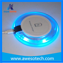 CE RoHS FCC approved Beautiful design imported ABS material best gifts Qi Wireless Charging Pad