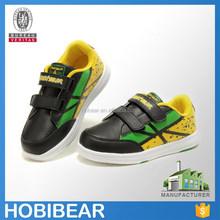 HOBIBEAR cheap lightweight custom sport shoe for kid velcro child skate shoe