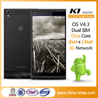 Octa Core 3G 1Gb Ram Two Cameras Android 4.3 Voip Smart Phone