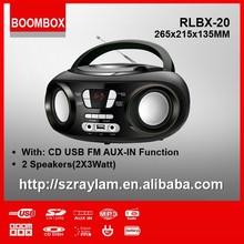 homeuse mini boombox cd player with FM radio USB MP3 Bluetooth