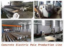 concreto del poste de electricidad de la línea de producción