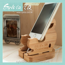 2015 Taiwan manufacture new design Bamboo funny car mobile cell phone holder for desk