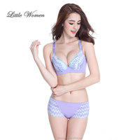 High fashion young ladies sexy panty and bra sets net women underwear set
