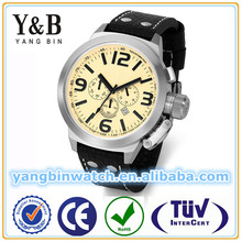 10 to 20 ATM water resistant fine steel calf leather made in china wrist watch