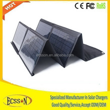 80W folding solar panel charger for laptop/big battery for travel/camping